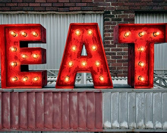 Diner Letters - Weathered Marquee Letters