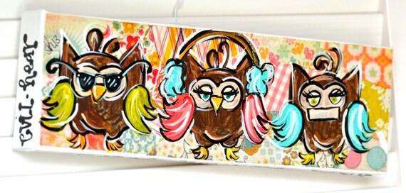 See No Evil Hear No Evil Speak No Evil Owls