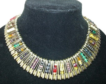 Safety Pin Necklace in Mixed Colors