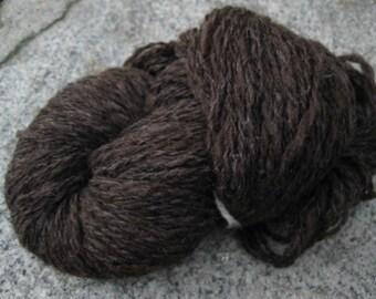 Handspun wool yarn 'Chocolate'