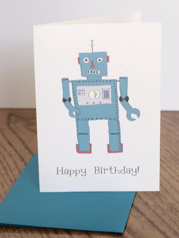 Vintage Robot Card Lemonhead Press
