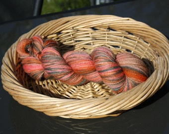 hand painted blue faced leicester yarn