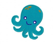 INSTANT DOWNLOAD Double Pack Under the Sea Octopus Machine Embroidery Design Includes BOTH Applique and Filled Stitch