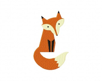 INSTANT DOWNLOAD Super Adorable Red Forest Fox Machine Embroidery Design