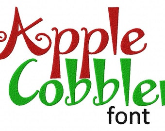 INSTANT DOWNLOAD Apple Cobbler Machine Embroidery Font Set Includes 3 Sizes