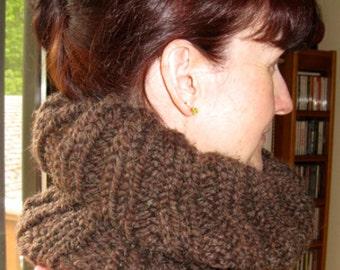 Cowl scarf.