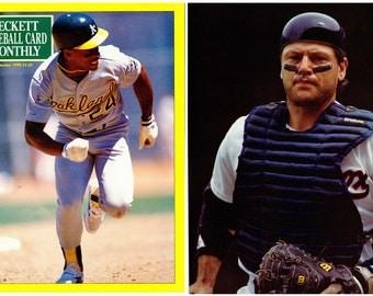 Baseball Beckett Magazine Number 66 1990 Rickey Henderson and Carlton Fisk