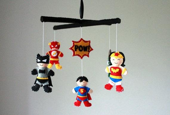Super Hero Baby Mobile Superhero Baby By Sweetdreamsbabyshop