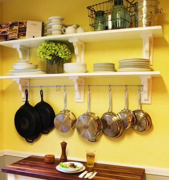Kitchen Shelving With Pot Rack