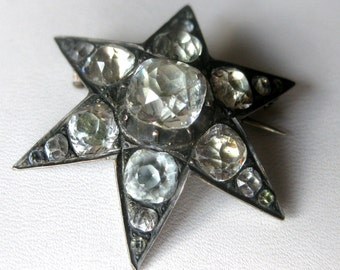 19th Century Paste Star Pin