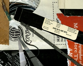 Print - Found Objects - Collage - Record - 11x17