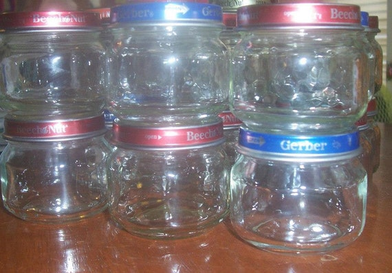 Empty Baby Food Jars 15 Empty 2.5 oz Baby F...