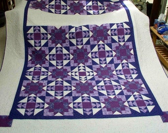 Purple Majesty Queen/Double Bed Quilt - OOAK