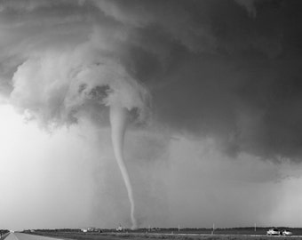 Black and white Tornado Photography, Storm Photography(Over the Rainbow)