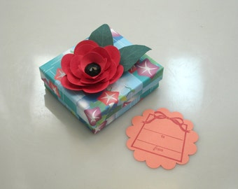 Hand-decorated jewelry gift box/keepsake box