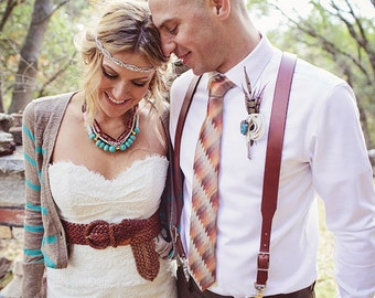 Leather Suspenders for the Groom and Groomsmen