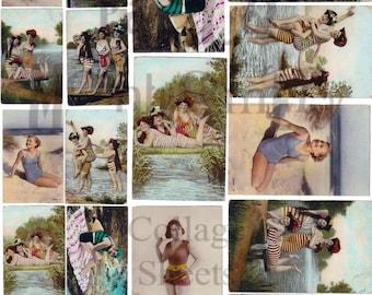 Bathing Beauties Number 1 Digital Download Collage Sheet