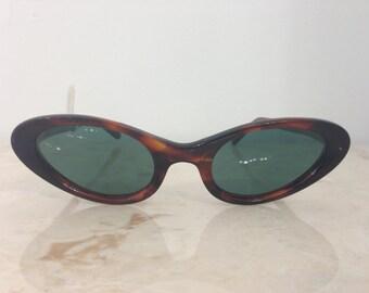 VINTAGE New Old Stock 1950s Iris by Titmus Tortoise Cat Eye Sunglasses NEW Polarized Lenses