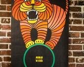 1966 CYRK Lion Poster - Polish Circus Promotion