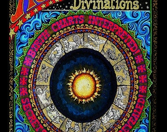 Astrological Divinations 8x10 Fine Art Print Pagan Gypsy Circus Oracle Goddess Art