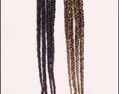 Pair of Double Ended Long Hair Braids on Hair Picks- CUSTOM MADE