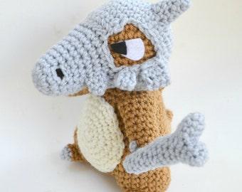 Cubone plush Pokemon doll amigurumi crochet