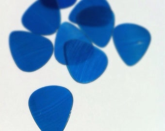 Guitar Pick in Blue - Handmade From Recycled Vinyl Record - Gift for Musicians, Rockers, Vinyl Collectors