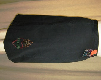 SALE!!!! Sacred Heart skirt - black pencil skirt with hand embroidered sacred heart