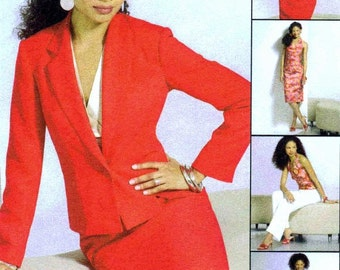 Misses Halter Top Jacket Skirt Pants McCalls 4843 Sewing Pattern Size 6 - 8 - 10 - 12 Bust 30 1/2 - 31 1/2 - 32 1/2 - 34 UNCUT