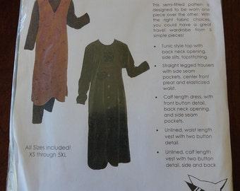 Paw Parints Purrfection Pattern 021 Layers - Vest Dress, Tunic, Top, Blouse Pattern Uncut All sizes