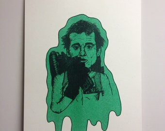 Peter Venkman : Ghostbusters - Risograph Art Print