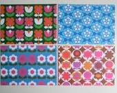 Mod Florals 12 Postcard Pack, 4 Designs