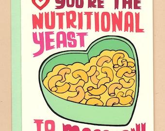Vegan Macaroni Valentine Card