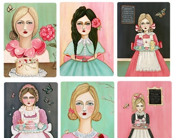 6 Cake Girls - Assorted Card Pack