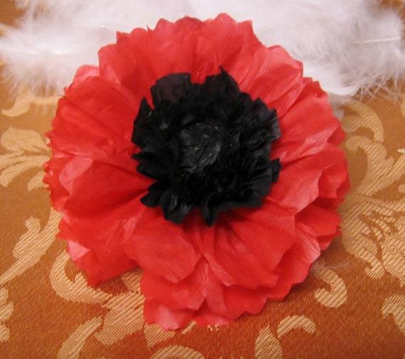 Paper Oriental Poppies, 12, opened, Wizard of Oz, ,Poppy, unfurled, orange, black