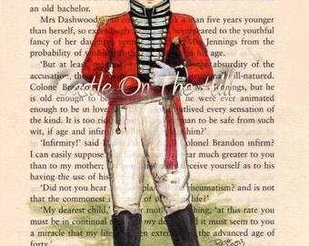 Jane Austen Sense and Sensibility Colonel Brandon - 5 x 7 print - All proceeds to charity
