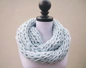 Instant Download Knitting PATTERN - Infinity Scarf Knitting Pattern - Polar Infinity Scarf and Polar Circle Scarf Womens Accessories