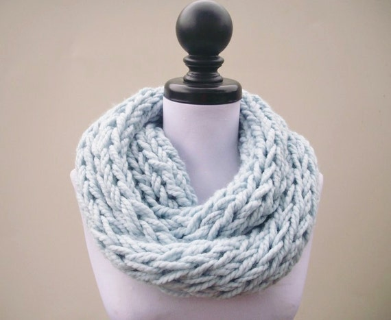 9e039fb35 Gorgeous infinity scarf knit with 2 color 6 row repeat Butterfly Lattice  Stitch. Designed by