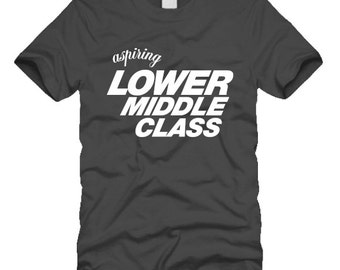 Aspiring Middle Class tee shirt with screen printed design by Project Chane