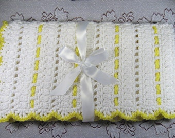 Free Crochet Pattern For You Are My Sunshine Blanket : PDF Pattern Crocheted Baby Afghan DIAMOND LACE Baby Afghan