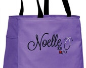 Personalized Nurse Tote Bag Handbag with Heart Stethoscope RN CNA LPN Nursing Student Graduation Gift