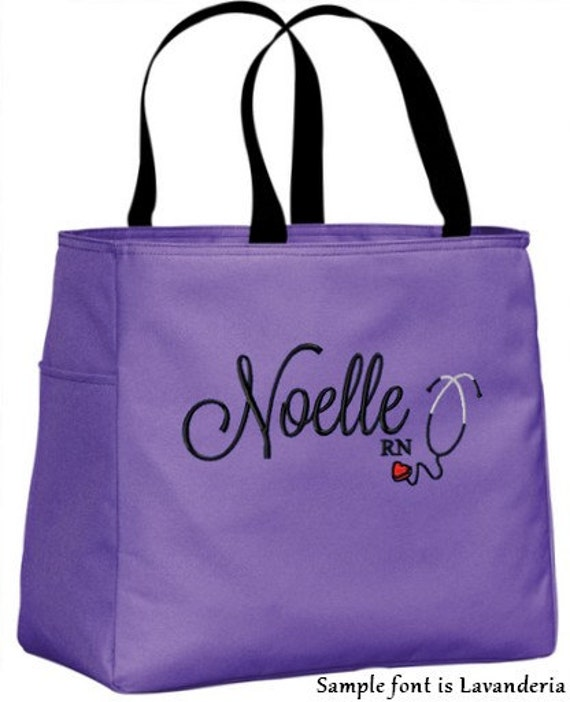 personalized tote bag handbag with stethoscope rn