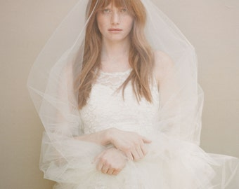 Cathedral length veil, wedding veil, tulle bridal veil - Simple Cathedral length veil - Style 357 - Ready to Ship