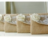 clutch lace burlap lace clutch purse rustic wedding Personalize Bridesmaid Gift Bridesmaid Clutch bridal Clutch shabby chic  Wedding clutch