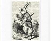 Rabbit from Alice in Wonderland print