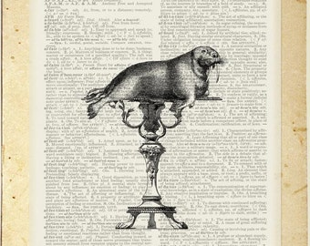 1851 Crystal Palace carved table and walrus print