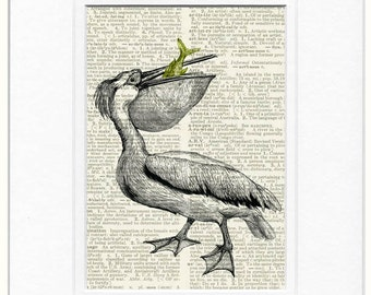 pelican dictionary page print