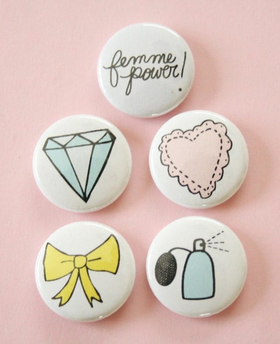 Femme Power Button Set in Glitz