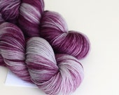 Shae - Hand Dyed Yarn - Sock Yarn - Fingering Weight - Purple and Gray - Variegated - Game of Thrones Yarn