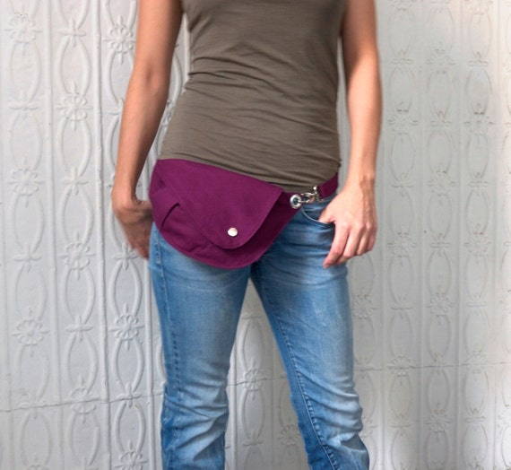 Belt bag in bright plum cotton fanny pack hip bag travel - Ripped jeans selber machen ...